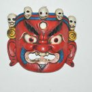 Antique Masterquality Mask Hand Carved wooden Tibetan Mask Wall Decor Man cave