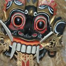 Hand carved Balinese Tribal Mask with rope/hessian hair