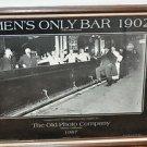 Mens Only Bar Food & Wine Multi-Color, Original, Pop Art Poster Picture Not sure