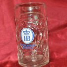 Hofbrauhaus Munich Munchen German Glass Dimple Beer Mug 1 L