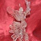"Christmas Tree Topper Angel Raising Harp To God Transparent Plastic 10"""