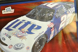 The Miller Lite Mobil 1 Car Rusty Wallace Picture Framed