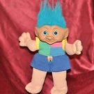 Novelty 12 inch PLUSH BLUE HAIR TROLL