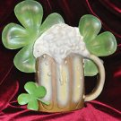 Shamrock Blinking Bear Sign Wall Decor Contemporary, Man Cave and Multi-Color