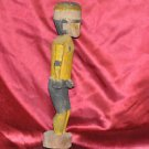 "Wooden Carved Man Anatomically Correct 12""in."
