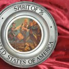 "Spirit of ""76 United States of America Plate Wall Hanging Minute Men"