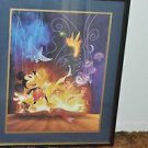 """75 Years With Disney Frammed & Matted Lithograph 28.5"""" X 24"""