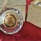 MOM OF THE YEAR GLASS AWARD IN A GIFT BOX 3 inches wide