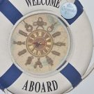 Welcome Aboard Life Ring / Life Preserver Nautical Theme Wall Clock