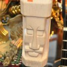 Native Vintage Hawaiian Top Tiki Totem Head Carved Beige and Nautical