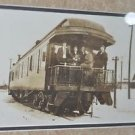 """Matted Framed Photo of Box Car Train with People from Early 1900 17.5"""" 14.5"""""""