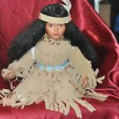 "Beautiful Sitting Indian Princess Porcelain Doll 15"" Tall Sitting Down"