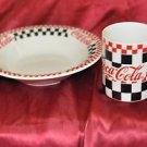Coca-Cola Soup bowl and Big Mug Matching Set 1999 Gibson