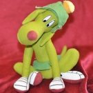 "RARE Looney Tunes Marvin the Martian Green Dog K-9 10"" Plush Stuffed Doll Toy"