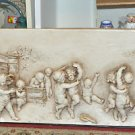 "Angels & Cherubs Playing & Dancing Wall Plaque 24"" X 12"" Beige & Traditional"