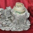 """7""""Chinese Feng shui Statue Ba Gua Tai Ji money Dragon Turtle tortoise Holder"""