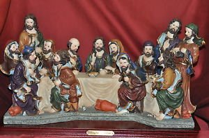 THE LAST SUPPER OF JESUS CHRIST WITH JOHN, PAUL, MARK, MATHEW, Mixed Material