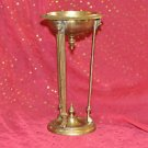 ANTIQUE CHALICE GOLD TONE METAL CANDLE HOLDER