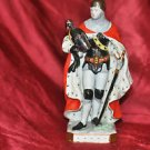 Knight Crusader Red Cape Art Deco #641. Look at the Bottom Rare emblems