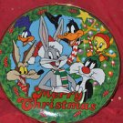 Merry Christmas Looney Tunes Collectable plate Mixed Materials and