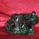 Candle-Lite Indiana Glass Frog Candle Holder Green Spanish Figural Votive Pillar