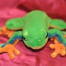 Rainforest Tree Frog Plush Stuffed Animal Redeye Green Yellow Orange Toy