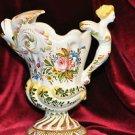 Porcelain Vase Mermaid Fish Pitcher Marked D*P