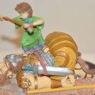 DAVID and GOLIATH FIGURINE Ceramic and
