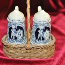 ANTIQUE PAIR OF SALT & PEPPER SHAKERS FROM GERMANY IN A BEER STEIN DESIGN!