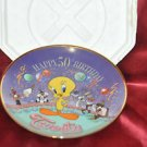 Collector Plate Looney Tunes Happy 50th Birthday Tweety From Franklin Mint