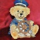 Teddy Bear Captian Figurine Nautical