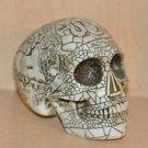 HEAD HUNTER ANCESTRAL HUMAN TROPHY RESIN SKULL TRIBAL INSCRIBTIONS