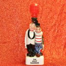 THE JOLLY TWOSOME FIGURINE DECANTER Mixed Materials and Original