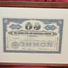 The Lehigh Coal and Navigation Company 100 Shares Framed