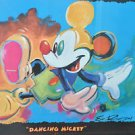 """Dancing Mickey Lithograph Print Framed Signed Eric Robison 31.5"""" X 25.5"""""""