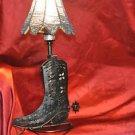 Old Wooden Based Real Cowboy Cowboy Boot lamp