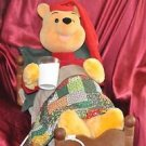 Disney Christmas Animated Figure - Winnie The Pooh In Bed Moves & Plays Music