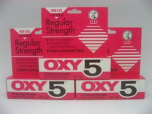 *NEW* OXY 5 Regular for Acne pimple (5% benzoyl peroxide) 25g
