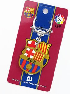 FC BARCELONA KEYFOB KEYCHAIN COLLECTIBLE GREAT GIFT DOUBLE-SIDE NEW