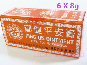 Hong Kong Ping On Ointment 6 vials x 8g Pain Relief ��平��