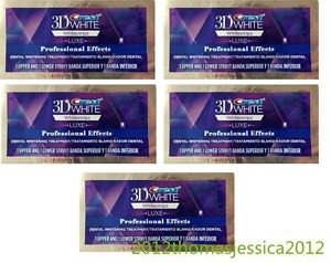 CREST PROFESSIONAL EFFECTS LUXE WHITENING STRIPS WHITESTRIPS 5 Pouch