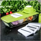Mandoline Slicer Manual Vegetable Cutter with 5 Blades Multifunctional Vegetable Cutter
