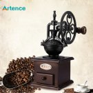 Ferris Wheel Design Vintage Manual Coffee Grinder With Ceramic Movement Retro Wooden Coffee Mill