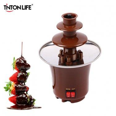 New Mini Chocolate Fountain Creative Design Chocolate Melt With Heating Fondue Machine