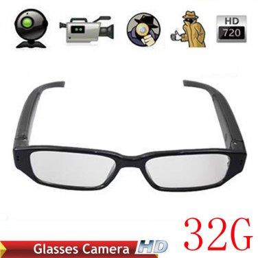 32g HD 720P SPY Glasses Camera Spy Hidden Video Recorder Eyewear Security