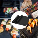 2pcs Reusable Non-stick Surface BBQ Grill Mat Baking Easy Clean Grilling