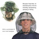 Bug Net Mosquito Travel Head Insect Camping Hat Midge Protector Mesh Face