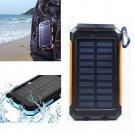 NEW 300000mAh Portable Waterproof Solar Power Bank Dual External Battery Charger