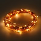 Solar Powered Warm White 10M 100LED Copper Wire Outdoor String Fairy Light
