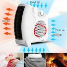 1000W-2000W Portable Room Floor Upright Flat Electric Fan Heater Hot & Cold
